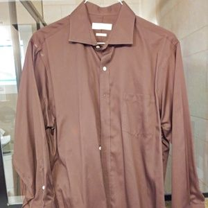 Chocolate brown Michael Kors No Iron Dress Shirt